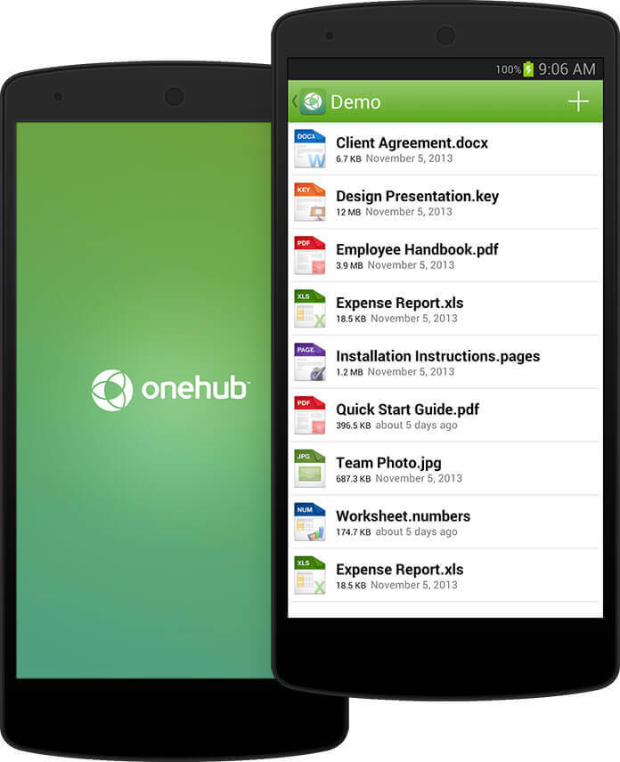 Onehub for Android screenshot.